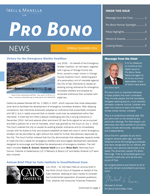 Spring-Summer 2016 Pro Bono News Cover