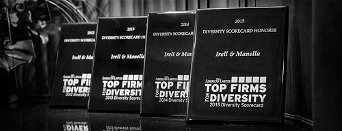 Photo of AmLaw Diversity Plaques